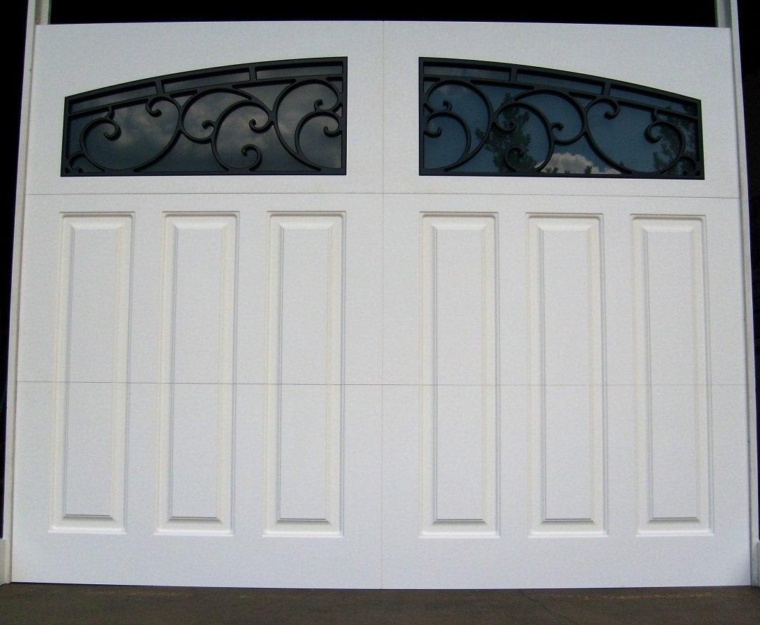 White Paneled Decorative Iron Windows