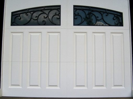 White Paneled Decorative Iron Windows