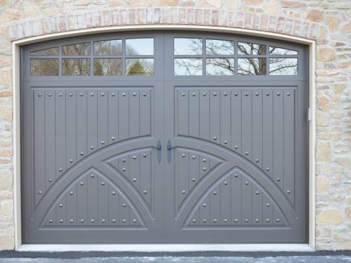 Gorgeous Gray Embellished Carriage House Door