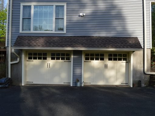 Pale Yellow Defined Outline Carriage House Doors